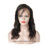El cabello natural 100% de la Virgen de Malasia Remy Cabello Humano de onda de cuerpo pleno encaje peluca