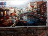Pitture di arte della tela di canapa di paesaggio di Venezia delle pitture della lama per la parete