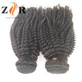 De onverwerkte Kroezige Weefsels van het Menselijke Haar van de Krul
