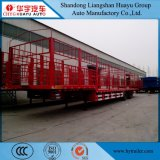 Huayu Vieh/Pferd/Schaf-Schlussteil des Transport-3axles halb mit Stapel und Zaun