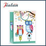 gedruckter Eulen-Entwurfs-Einkaufen-Träger-Geschenk-Papierbeutel der Karikatur-4c