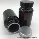 175ml de donkere Bruine Plastic Fles van de Geneeskunde, de Plastic Verbinding van Kroonkurk