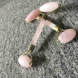 Rouleau personnalisable de massage de quartz de Rose