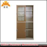 Vidro da mobília do metal da forma e gabinete de aço da porta deslizante