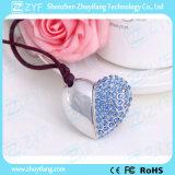 Varios Colores Forma corazón de la joyería del Rhinestone de lápiz USB (ZYF1905)
