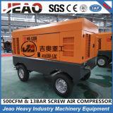La Chine a fait à longue durée de vie le compresseur d'air mobile du diesel 500cfm pour la construction