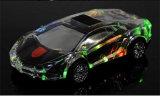Luzes coloridas cristal transparente Lamborghini carro alto-falante Bluetooth sem fio