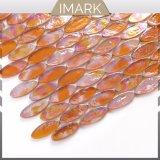 Mosaico di vetro ovale ambrato delle mattonelle della parete dell'acquazzone delle mattonelle di mosaico