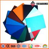 Панель пластмассы ACP серебряного PVDF покрытия Ideabond внешняя