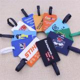 Kundenspezifisches Gepäck-Marken-2D Firmenzeichen weicher Belüftung-Kennsatz mit Strape