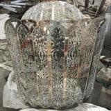 Kundenspezifische Edelstahl-Kugel-im Freienmetalskulptur für Einkaufszentrum