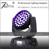 36 X 10W RGBW LEDs를 점화하는 360W 급상승 이동하는 맨 위 세척