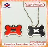 Red Metal Multifuncional Bottle Opener Dog Tag