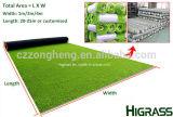 自然な緑の庭の装飾の景色の人工的な草