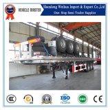 Китай популярные 40 ФУТОВ Fuwa 3 моста 60t планшет контейнер Полуприцепе