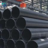 Großer Durchmesser Stahlriemen verstärktes HDPE gewölbtes Rohr für Drainnage