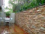 Panneau mural en placage de pierre quartzite naturel pour revêtement mural