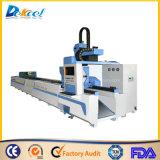 Tuyau métallique de la faucheuse laser Le traitement des fibres de la plaque de 500W machine CNC