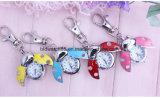 Kundenspezifischer fantastischer bunter Stampfer-Marienkäfer-Pocket Uhr mit Keychain
