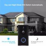 Desbloqueo remoto de vídeo inteligente WiFi timbre inalámbrico de visión nocturna por infrarrojos Video Portero