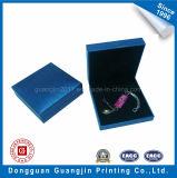 Коробка подарка глянцевой бумаги голубого цвета специальная для упаковывать Jewellery