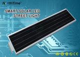 Смарт-все-в-одном IP65 солнечной энергии света в саду с литиевой батареей
