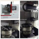 Reparación automática profesional que hace vertical del torno del CNC de la rueda de la aleación