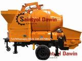 56 Kw Lovol potente motor diesel da bomba de mistura de concreto com 30m3/hr e Capacidade de saída de 100m da linha do Tubo de Distribuição sobre venda