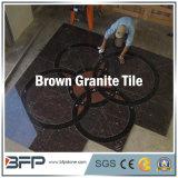 Polished естественный гранит плитки пола Brown каменный для настила/стены/лестницы