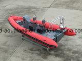 Barco del coche de la costilla de China Aqualand el 19FT los 5.8m/barco del salto/patrulla inflables rígidos del rescate (rib580t)