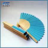 Ventilador feito sob encomenda de dobramento à mão de bambu relativo à promoção feito sob encomenda da mão do logotipo dos ventiladores