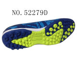 Les couleurs bleu PU Les hommes de la taille des stocks de Soccer Shoes