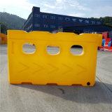 Rote Rotationswassergefüllte Sperren-Straßenrand-Plastiksperre