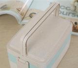 サンドイッチお弁当箱の電子レンジの使用できるムギのファイバーのお弁当箱