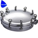 Écoutille ronde hygiénique de réservoir sous pression d'acier inoxydable avec des traitements de boucle