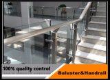 Modèle en verre de pêche à la traîne d'acier inoxydable pour l'escalier