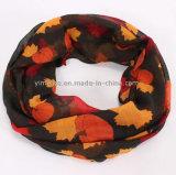 熱い販売の女性首のウォーマーによって印刷される無限スカーフの女性はショールを暖める