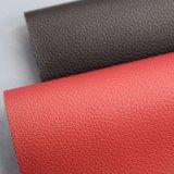 Tissu enduit de PVC gravé en relief par cuir de sac de PVC des graines de litchi
