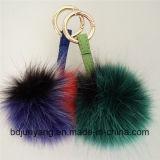 De kleurrijke Vos Keychain van het Bont Faux