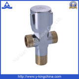 Угловой вентиль двойника воды Polished управления латунный (YD-5008)