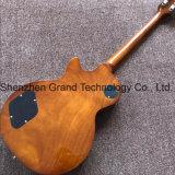 Bois massif Style LP guitare électrique en vert clair (BPL-509)