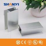Sliver Anodizados 6.063 Alumínio extrudido Porta de vidro para material de construção