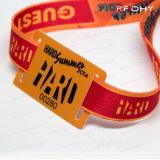 Gewebe-ArmbandWristband der Form-Art-RFID für Festival/Unterhaltung