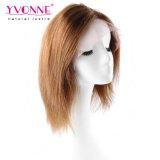 Colorer perruque brésilienne légère de lacet de #4 Yaki la pleine