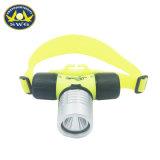 1WプラスチックIpx 8の防水ダイビングのヘッドライトの明るいダイビングのヘッドライト