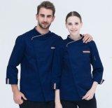 La fábrica suministra 4 en 1 uniforme del cocinero del Workwear del restaurante de la alta calidad de los hombres insignia de encargo del bordado