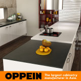 Oppein moderner roter Lack-hölzerne modulare Küche-Großhandelsschränke (OP15-L13)