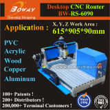 6090 Acrílico de PVC de metal blando de PCB cobre aluminio carpintería de madera CNC máquina de torno de escritorio