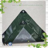 방수포 진한 녹색 &Gray 방수 플라스틱 루핑 덮개