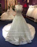Design elegante (fora de stock) uma linha vestido de casamento